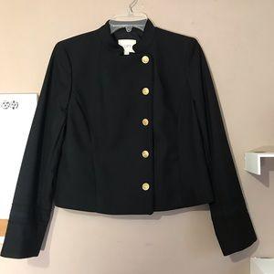 LOFT Blazer Jacket Black Gold Buttons